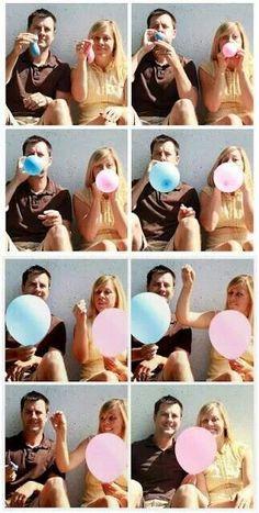 unique couples gender reveal photo ideas | Gender reveal