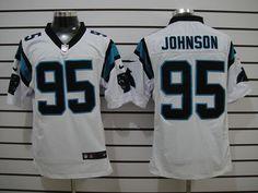 White Johnson Jerseys, Nike Carolina Panthers #95 Elite Jerseys  ID:630200868$23