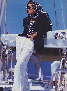 The formula for nautical style is as simple as it is perfect: navy, white, and a stripe. Here, the best nautical style from the Vogue archives.