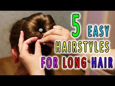 5 Easy Hairstyles for Long Hair  Best Hairstyles for Girls - YouTube