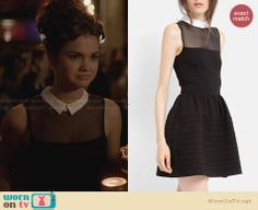 Callie's black illusion dress with white collar on The Fosters. Outfit Details: http://wornontv.net/28883 #TheFosters #fashion