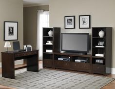 TV stand with bookcases - idea for living room