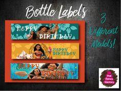 Moana inspired bottle labels de ThefancyfactoryES en Etsy