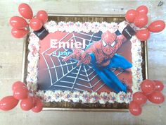 #bakkerij #edelweis #aalst #patisserie #bakkeraalst #bakker #taarten #dessert #gebak #spiderman #kindertaarten Facebook Sign Up, Spiderman, Frame, Desserts, Decor, Spider Man, Picture Frame, Tailgate Desserts, Deserts