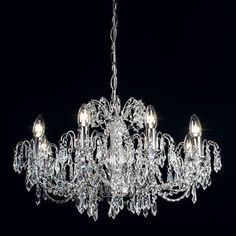 Searchlight Willow 10 Light Crystal Chandelier & Reviews | Wayfair ...