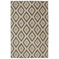 Mohawk Home Tribal Diamond Tan Beige Rectangular Woven Area Rug (Common: 5 x 8; Actual: 60-in W x 96-in L)