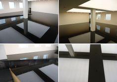 London. Basement of Saatchi Gallery. Richard Wilson's 20:50 installation. Katrina©B
