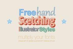 Adobe Illustrator styles Scetching by popskraft lab on @creativemarket
