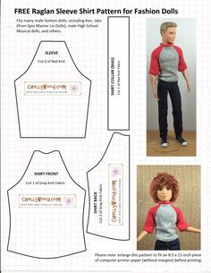 Ken Doll Patterns Printable | Doll Clothes Patterns | Chelly Wood                                                                                                                                                     More