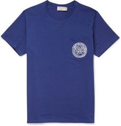 Striped Slub Cotton-jersey T-shirt Folk 2018 New Cheap Online Outlet Low Cost gOJAVU855V