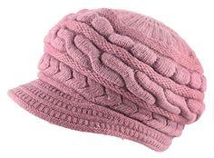 Kaisifei Women Winter Warm Knit Hat Ski Caps with Visor (Red wine) Winter Caps, Christmas Lingerie, Peaked Cap, Women Hat, Classy Men, Winter Hats For Women, Ski, Belts, Needlework