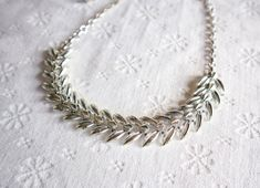 Mid Century Silver Coro Necklace, Vintage Costume Jewelry