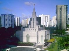 Click to download this wallpaper image of the Recife Brazil Mormon Temple