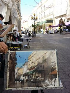 Plein air Hyeres,France.watercolor by Chien Chung Wei
