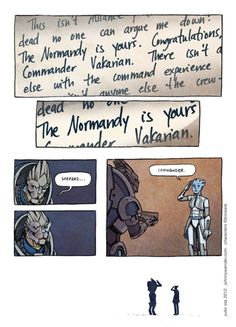 2nd part of the other one. Commander Vakarian, it has a nice ring to it.