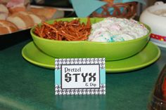 Rock-A-Bye Baby Shower food with rock names. All these ideas are great, boy or girl. Id definitely do this.