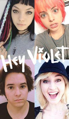Hey Violet collage.