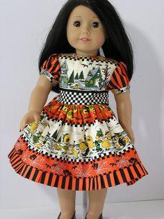 Happy Halloween Dress for 18 Inch Doll. $11.00, via Etsy.