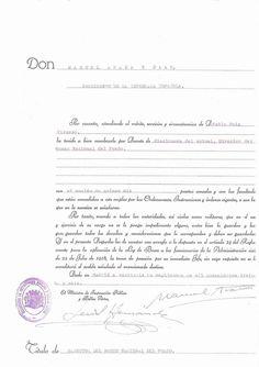 Acta de Manuel Azaña nombrando al pintor malagueño, Pablo Picasso Director del Museo del Prado (1936).