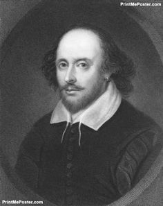 William Shakespeare poster #poster, #printmeposter, #mousepad