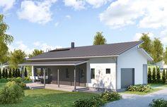 Pienelle perheelle tilava ja valoisa Classic koti jossa kaikki tarpeelliset mukavuudet sisällä sekä ulkona. Tehokas pohjaratkaisu takaa vähän hukkaneliöitä.