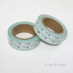 Washi Tape menta helados