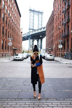 A great look and a great location. Great photos from fashion blogger Atlantic-Pacific in Brooklyn, New York.