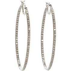 Cathy Waterman Pave Diamond Hoop Earrings ❤ liked on Polyvore featuring jewelry, earrings, pave diamond hoop earrings, hoop earrings and pave diamond earrings