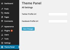Create a WordPress Theme Settings Page with the Settings API