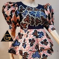 African Blouses, African Lace, African Wear, African Maxi Dresses, Latest African Fashion Dresses, Ankara Blouse, African Print Dress Designs, Fashion Sewing, Designer Dresses