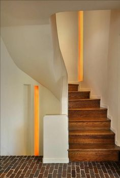 Staircase Andrew Rebori Art Moderne House Chicago IL