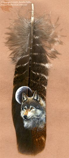 painted feathers  Wolves Moon