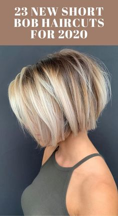 short bob hairstyles 23 New Short Bob Haircuts for 2020 Choppy Bob Hairstyles, Bob Hairstyles For Fine Hair, Short Bob Haircuts, Easy Hairstyles, Short Bob Cuts, Stacked Haircuts, Popular Short Hairstyles, Bob Haircuts For Women, Halloween Hairstyles