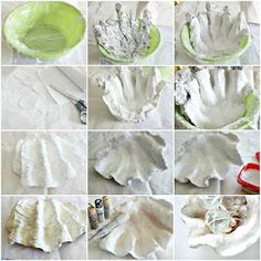 Craftberry Bush: Tutorial - Giant Clam Bowl---- This is pretty neat.Tutorial – Giant Clam Bowl Could do a variation on this using cardboard and paper macheMake your own clam bowl TUTORIAL NB Already ordered plaster rollBefore anything else, I wish Cement Crafts, Clay Crafts, Diy And Crafts, Arts And Crafts, Cement Art, Seashell Crafts, Beach Crafts, Giant Clam Shell, Under The Sea Theme