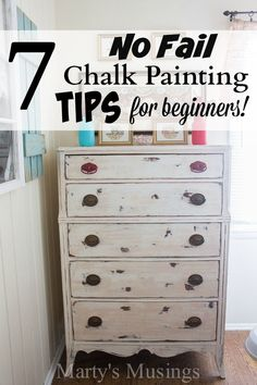 7 Chalk Painting Tips for Beginners + Supplies You Must Have! These 7 easy chalk painting tips for beginners will liberate you from perfectionism and get you hooked on the latest and most fun way to paint furniture and home decor accessories! Chalk Paint Projects, Chalk Paint Furniture, Furniture Projects, Diy Furniture, Bedroom Furniture, Furniture Stores, Furniture Online, Vintage Furniture, Furniture Websites
