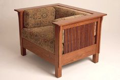 Mission Arts & Crafts Prairie Stickley style Spindle Club Cube Chair $1099. Dale Martin & Associates. I bought 2 loveseats and one cube chair from this guy and they were beautifully made and have held up very well. I'm still happy with this furniture.