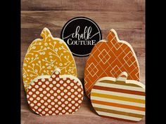 Chalk Couture Pumpkin Patterns - YouTube