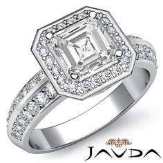 Women's Ideal Asscher Cut Diamond Engagement Ring GIA G Clarity Platinum in Jewelry & Watches, Engagement & Wedding, Engagement Rings Asher Cut Engagement Rings, Asscher Cut Diamond Engagement Ring, Classic Engagement Rings, Diamond Rings, Wedding Engagement, Ring Size Guide, Moissanite, Celtic, White Gold