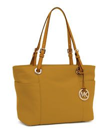 Michael Kors Jet Set Zip-Top Tote, Marigold