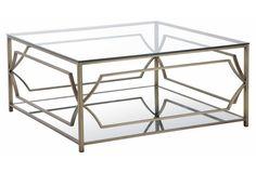 Edward Coffee Table, Brass