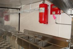 Fire suppression systems, in addition to upgraded fire extinguishers, adds to the safety of your trailer. Keep yourself, your investment, and your employees safe, and even get discounts on insurance (some company's might not offer discounts for on board fire suppression systems) are possible for the inclusion of fire suppression equipment.