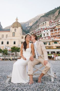 Positano, Italy wedding featured on Style Me Pretty Destination Photography By / http://studio1208.com