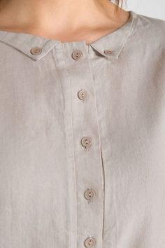 Linen dress, light beige gray linen dress for women, pre washed Linen clothing is part of Blouse designs - Neck Designs For Suits, Neckline Designs, Sleeves Designs For Dresses, Dress Neck Designs, Stylish Dress Designs, Blouse Designs, Simple Kurti Designs, New Kurti Designs, Kurta Designs Women