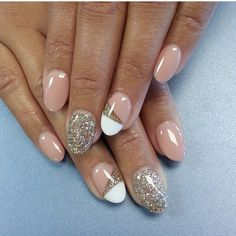 Neutral color, design and glitter