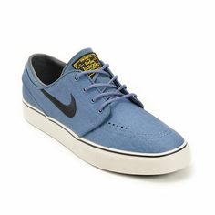 Nike SB Zoom Stefan Janoski New Slate, Black, & Varsity Maize Leather Shoes