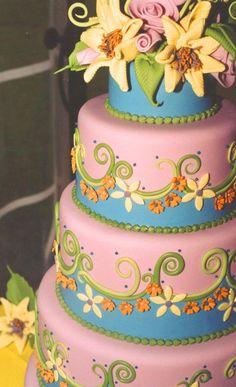daisies in detail cake by Julia M. Usher