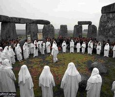 Druid Ceremony at Stonehenge Druids gather for a summer solstice ceremony at dawn on June 21 at the ancient site of Stonehenge in England. Druidism was the religious faith of ancient Celtic inhabitants of Gaul and the British Isles from the 2nd century bc until the 2nd century ad. The religion is still practiced today and is one of the more well-defined pagan groups.
