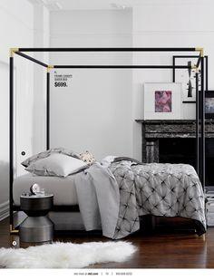 bedroom styling   SEASON OPENER Holiday Guide 2015   @crateandbarrel