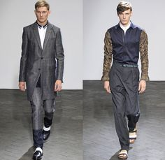 Wooyoungmi 2014 Spring Summer Mens Runway Collection - Mode A Paris Masculine Printemps Été 2014 Homme France Catwalk Fashion Show: Designer Denim Jeans Fashion: Season Collections, Runways, Lookbooks and Linesheets