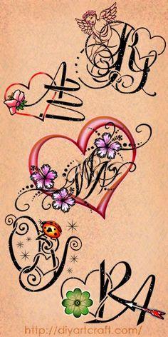 Poster 5 #monograms #heart